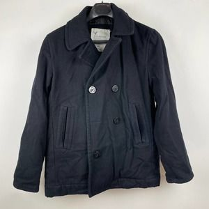 American Eagle Double-Breasted Faux-Wool Peacoat